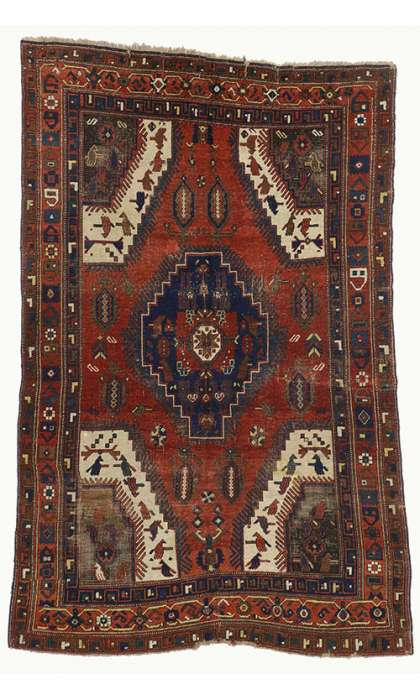 5 x 8 Antique Bergama Rug 73263