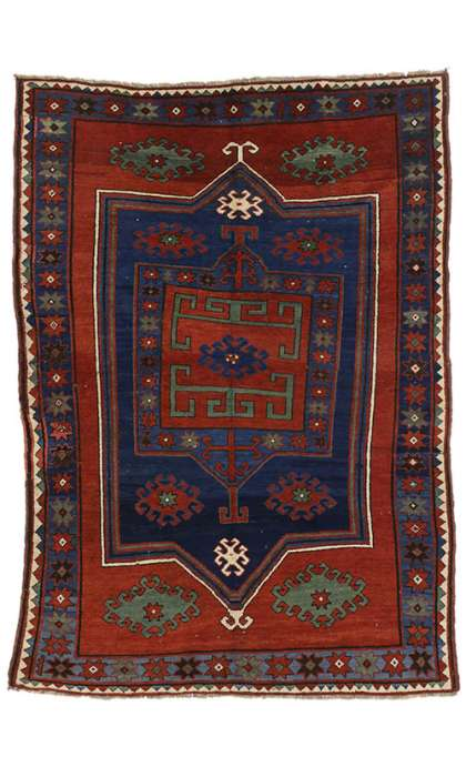 5 x 7 Antique Kazak Rug 73293