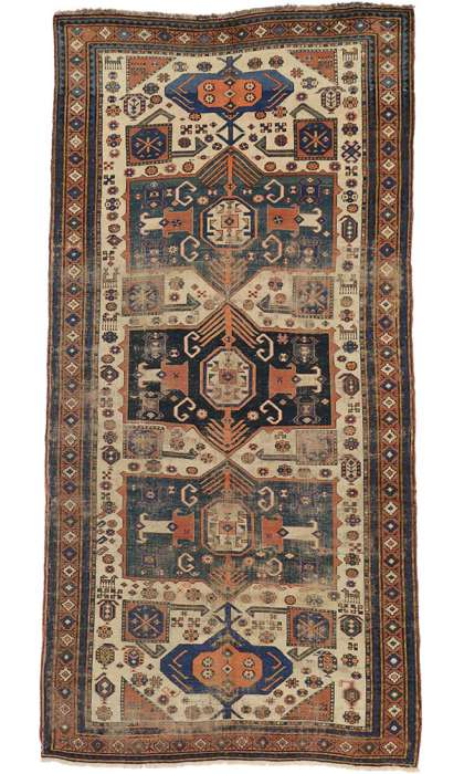 5 x 10 Antique Shirvan Rug 73303