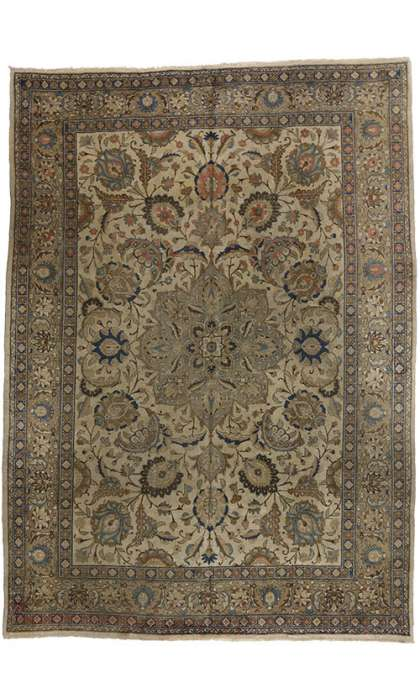 9 x 12 Antique Tabriz Rug 73338