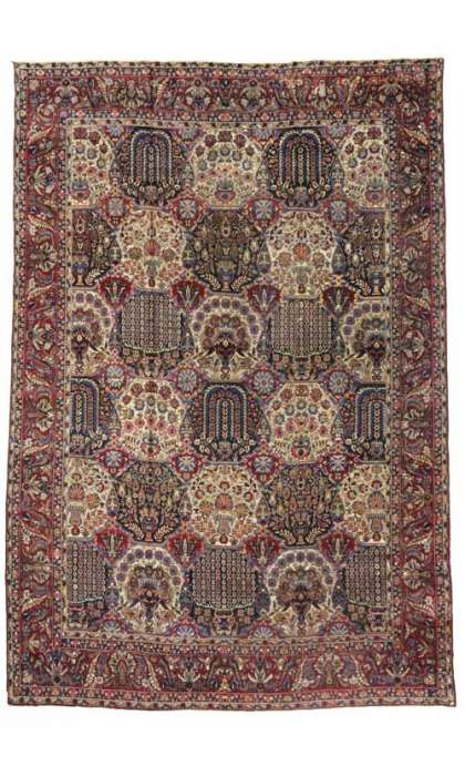 11 x 16 Antique Yazd Rug 73339
