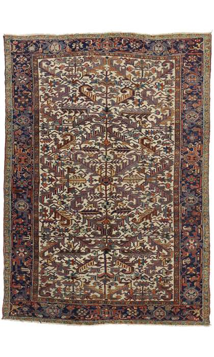 7 x 10 Antique Heriz Rug 73342