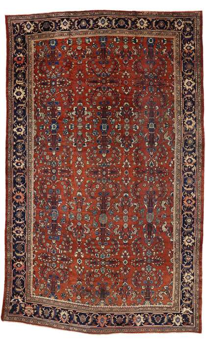 11 x 18 Antique Mahal Rug 73360