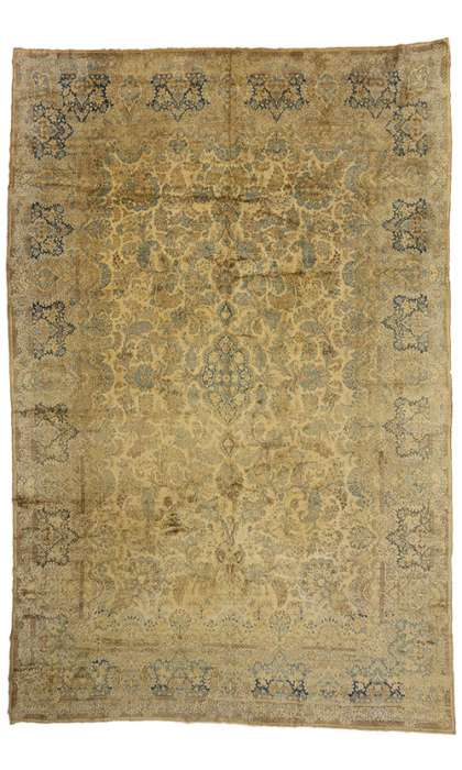 12 x 18 Antique Kerman Rug 73654
