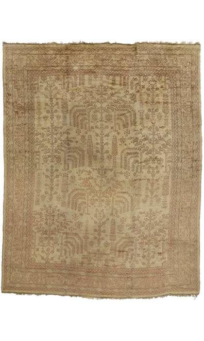 12 x 15 Antique Oushak Rug 74037