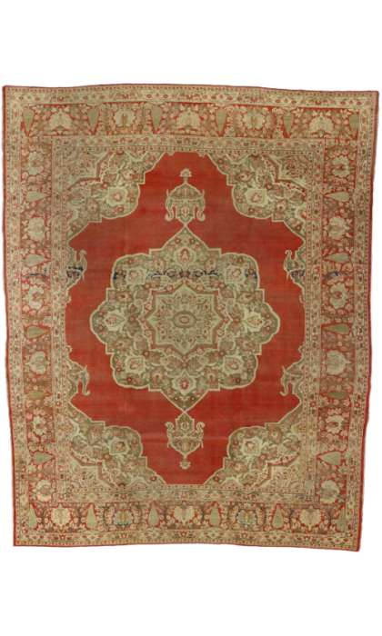 9 x 12 Antique Tabriz Rug 74140