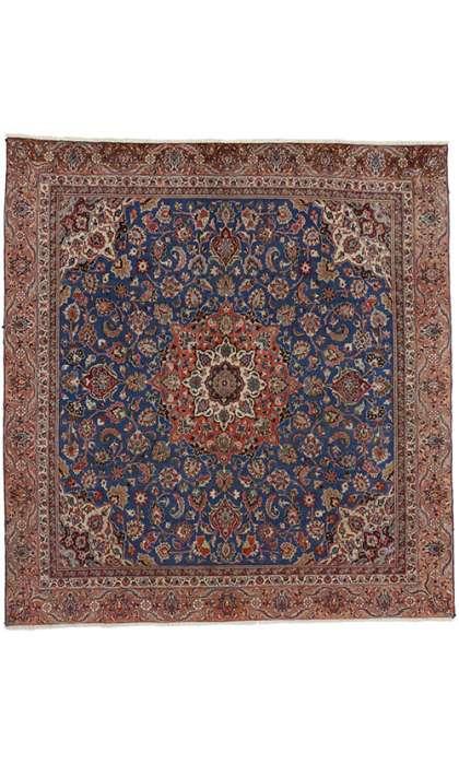 9 x 10 Vintage Tabriz Rug 74359
