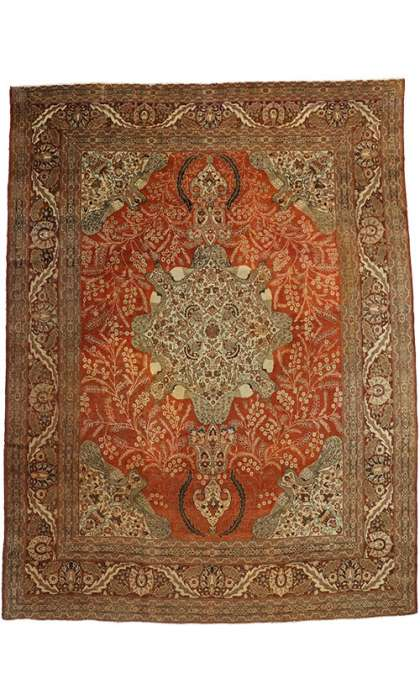 11 x 14 Antique Tabriz Rug 74383