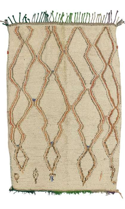 4 x 5 Vintage Moroccan Rug 74429