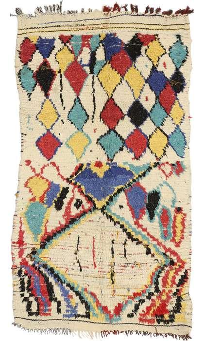 3 x 5 Vintage Moroccan Rug 74525