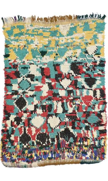 4 x 5 Vintage Moroccan Rug 74526