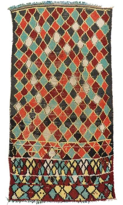 4 x 8 Vintage Moroccan Rug 74528