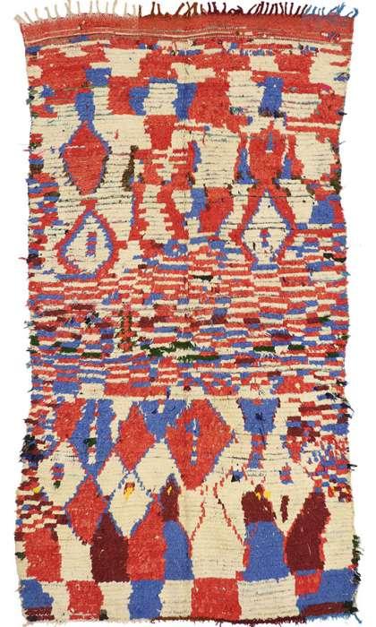 4 x 7 Vintage Moroccan Rug 74530