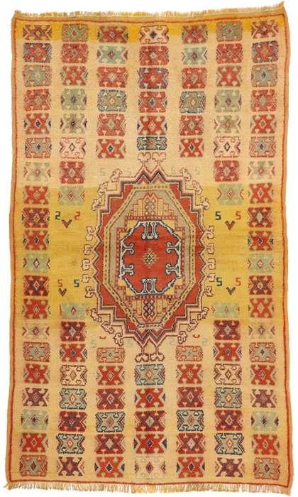 5 x 8 Vintage Moroccan Rug 74555
