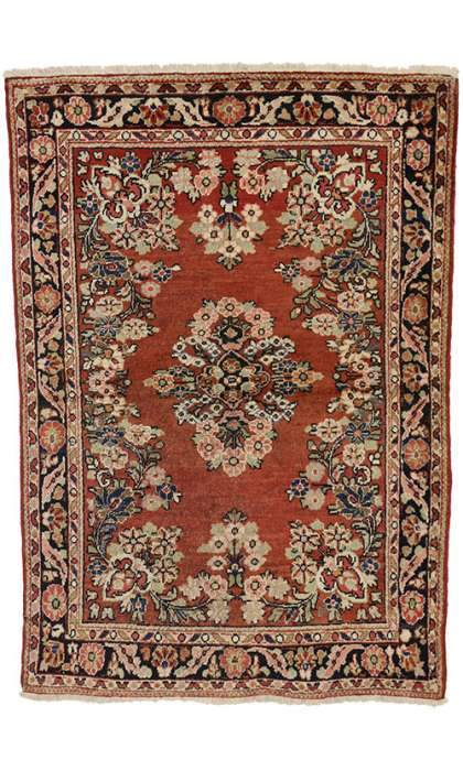 5 x 6 Antique Mahal Rug 74582