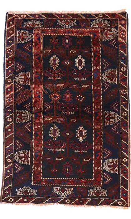 4 x 6 Antique Afghan Rug 74647
