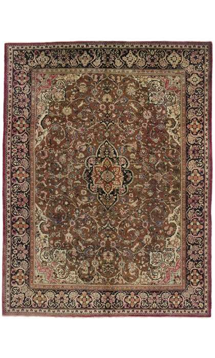 10 x 13 Antique Mahal Rug 74671