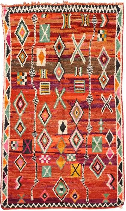 5 x 8 Vintage Moroccan Rug 74815