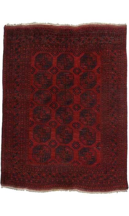 8 x 10 Vintage Turkaman Rug 74844