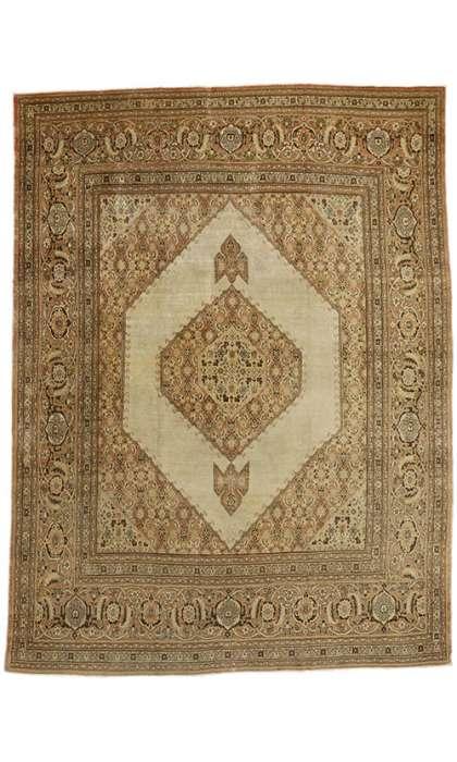 9 x 13 Antique Tabriz Rug 74938