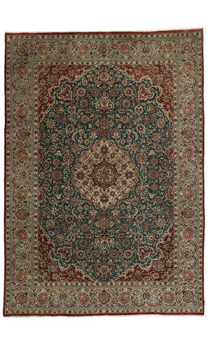 8 x 11 Vintage Tabriz Rug 75351