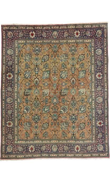 8 x 10 Vintage Tabriz Rug 75505