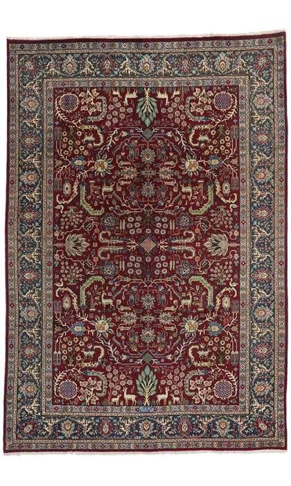 7 x 10 Vintage Tabriz Rug 75511
