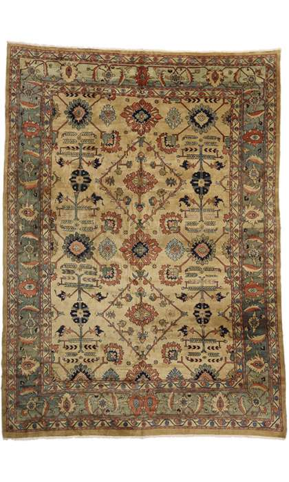 13 x 18 Vintage Persian Mahal Rug 75828