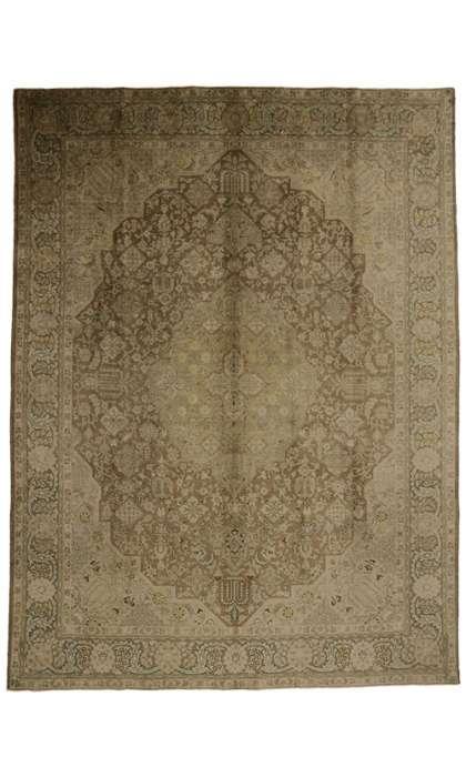 10 x 13 Vintage Tabriz Rug 75889