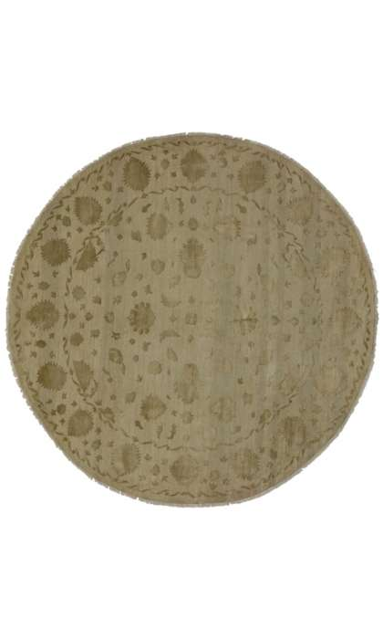 8 x 8 Transitional Oushak Rug 30286