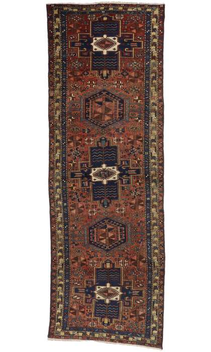 4 x 11 Antique Heriz Rug 76359