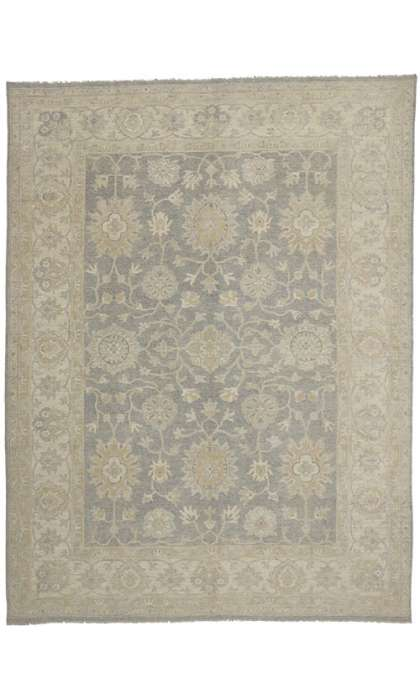 9 x 12 Transitional Style Oushak Rug 80213