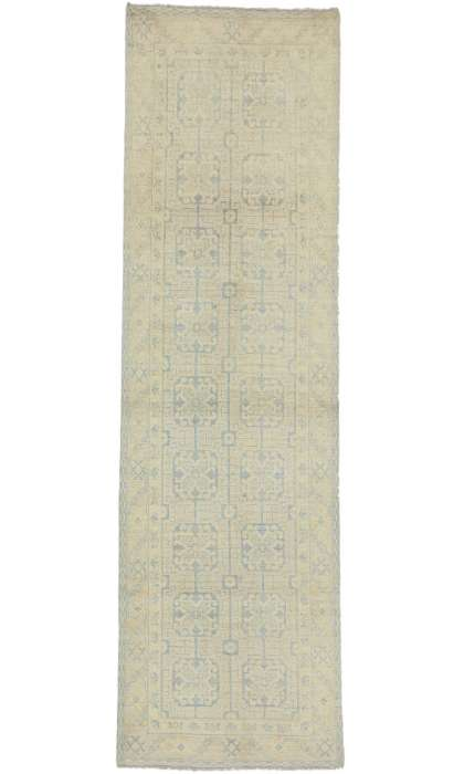 Transitional Khotan Style 3 x 10 Rug 80218