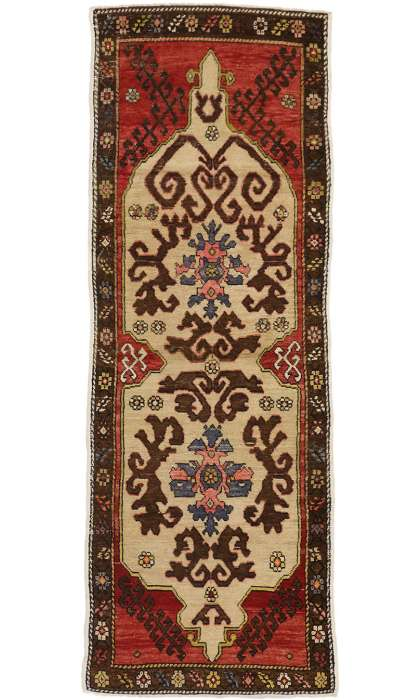 4 x 10 Antique Oushak Rug 50255