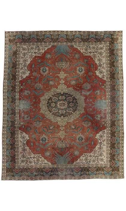 9 x 11 Vintage Tabriz Rug 75544