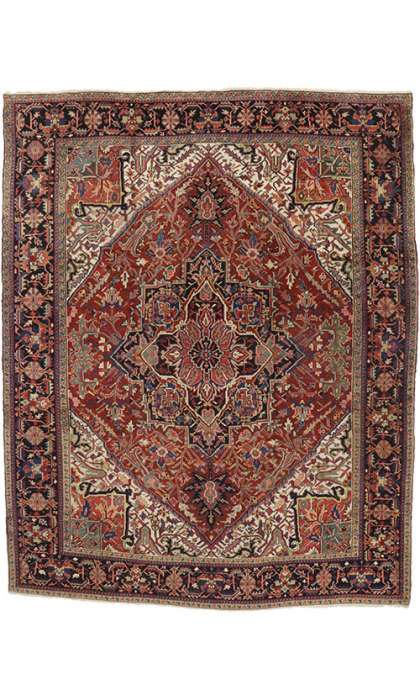 10 x 13 Antique Heriz Rug 76651