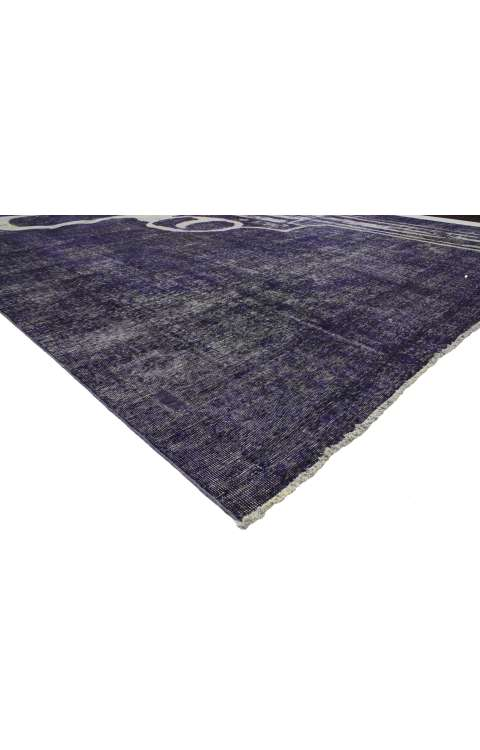 10 x 13 Vintage Overdyed Rug 80242