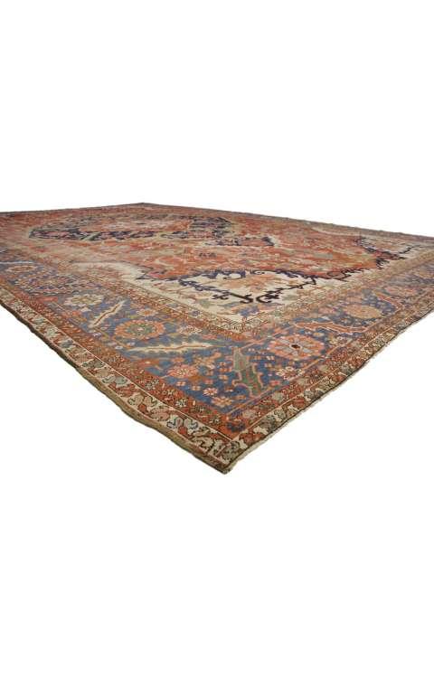 13 x 20 Antique Persian Serapi Rug 52303