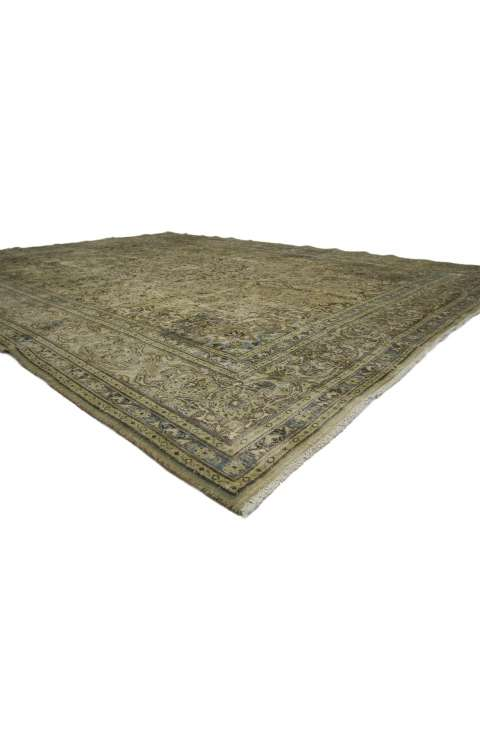 10 x 13 Distressed Persian Tabriz Rug 60690