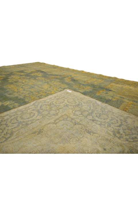 9 x 13 Vintage Overdyed Rug 60783