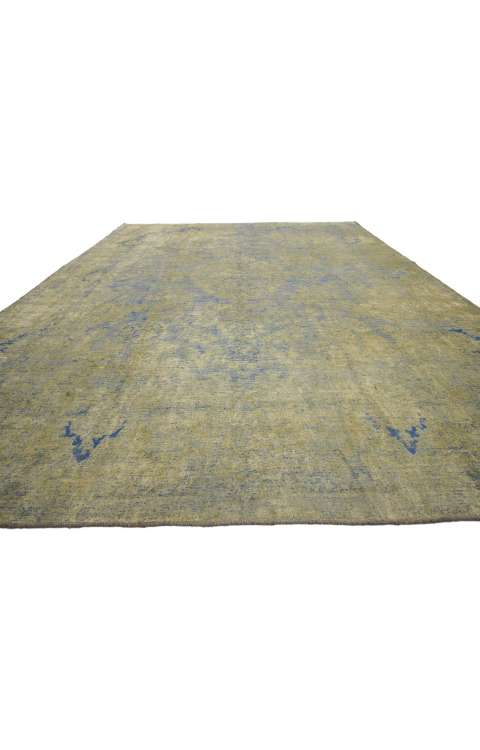 10 x 13 Vintage Overdyed Rug 60786