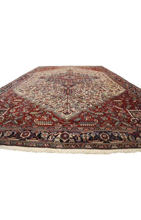 11 x 19 Antique Heriz Rug 77175