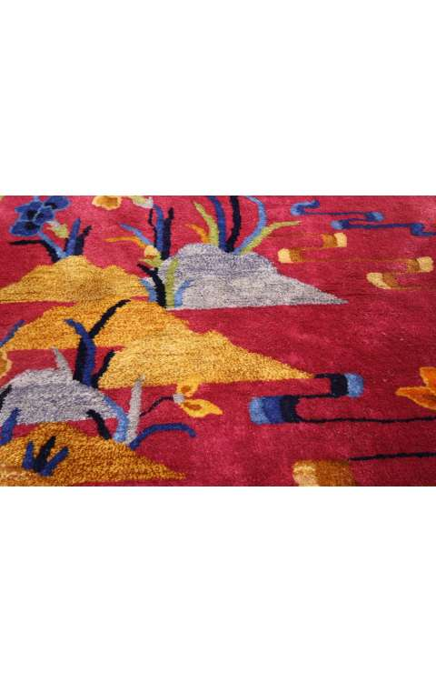 3 x 5 Antique Art Deco Rug 77195