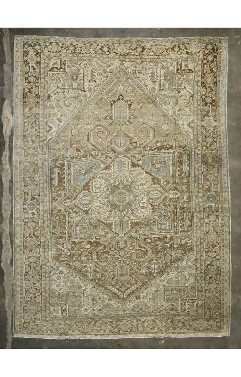 11 x 15 Antique Heriz Rug 52450