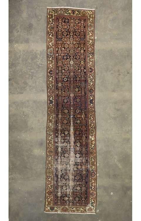 4 x 16 Antique Hamadan Rug 77227