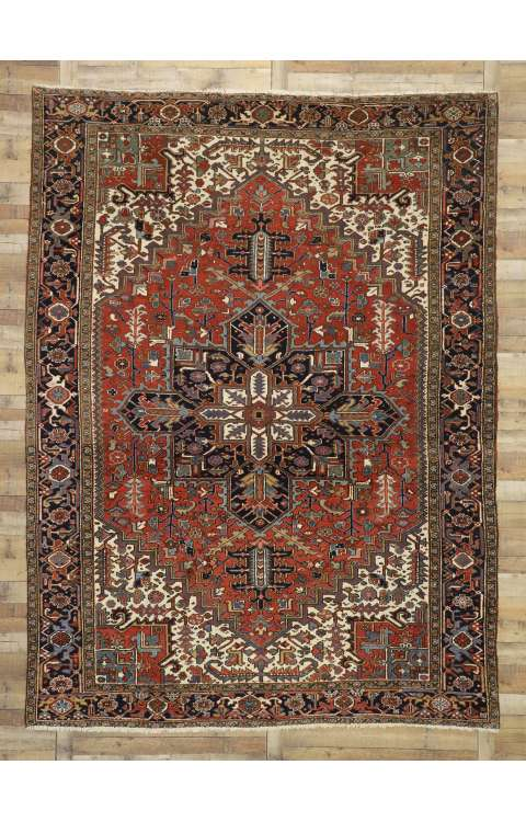 9 x 12 Antique Heriz Rug 77228