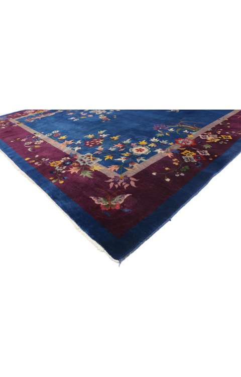 9 x 12 Antique Art Deco Rug 77231