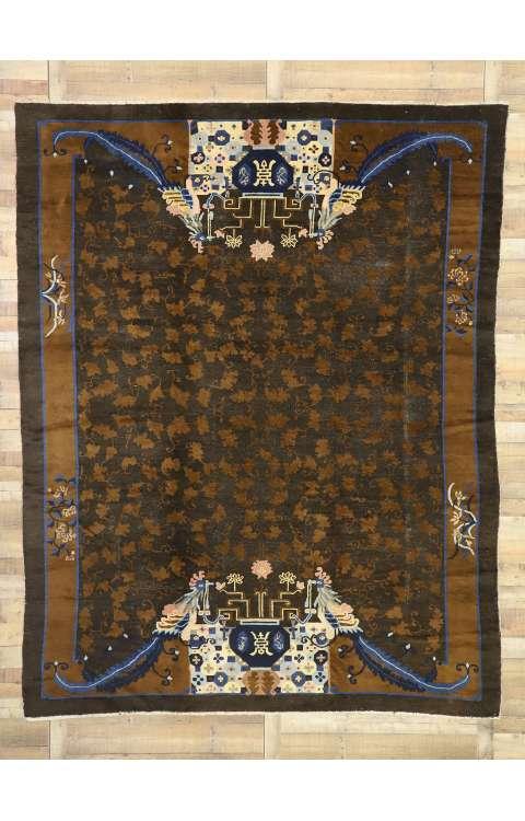 9 x 11 Antique Peking Rug 77239
