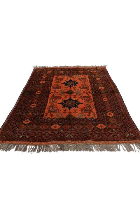 3 x 5 Vintage Afghan Rug 76990