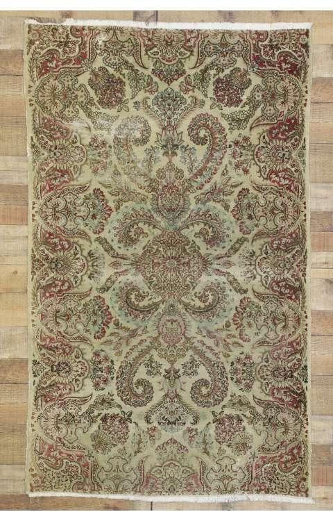 4 x 6 Antique Kerman Rug 74282